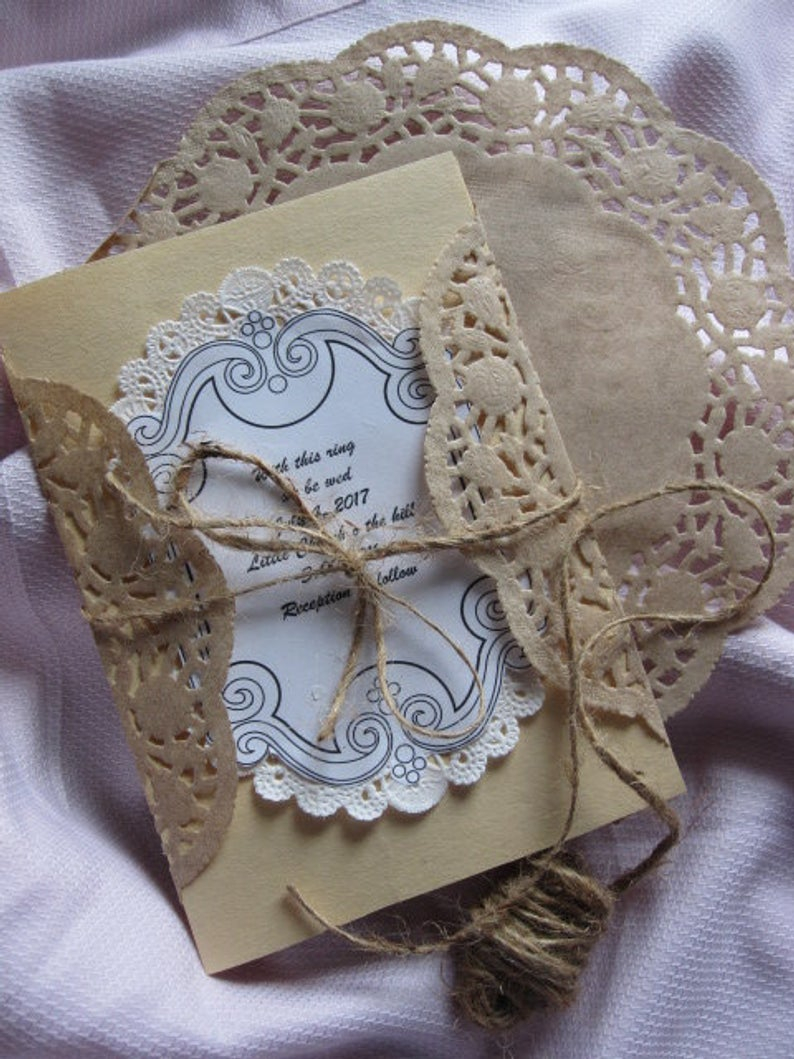 3 Pretty Designs of Craft Paper Doilies 25 Pcs 8 Inch Round Brown Kraft Paper Lace Doilies Craft Etsy