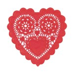 3 Pretty Designs Of Craft Paper Doilies Amscan 10 In Valentines Day Red Paper Heart Shaped Doilies 12