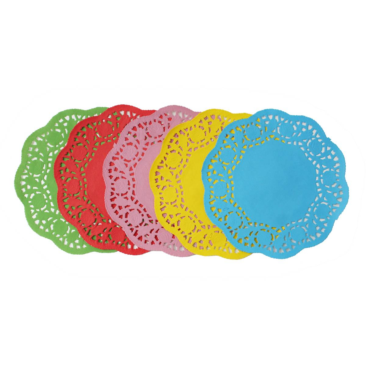 3 Pretty Designs of Craft Paper Doilies Coloured Craft Doilies 10 Pack Hobcraft