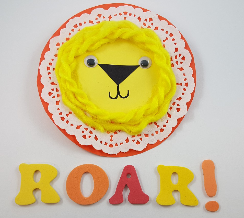 3 Pretty Designs of Craft Paper Doilies Doily Lion Paper Craft For Kids Ss Blog