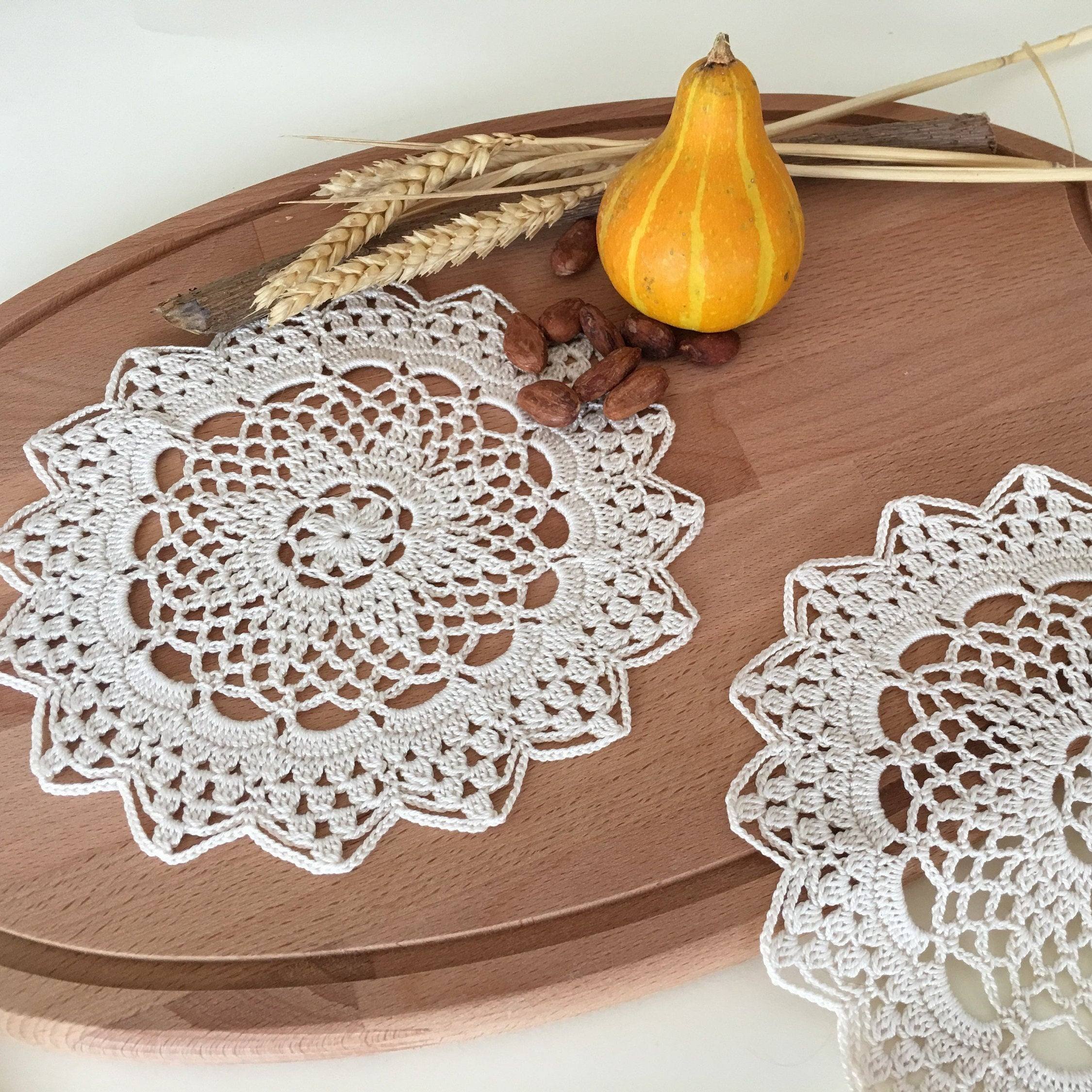 3 Pretty Designs of Craft Paper Doilies Rustic Craft Art Doily Kitchen Farmhouse Restaurant Decor Etsy
