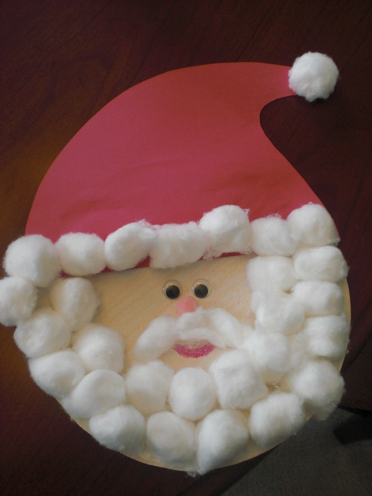 3 Unique Designs of Paper Plate Santa Craft Because I Said So And Other Mommyisms Paper Plate Santa Claus
