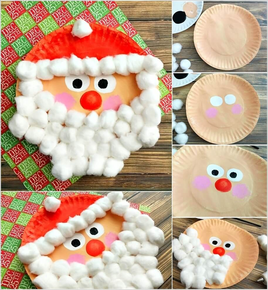 3 Unique Designs of Paper Plate Santa Craft Try These Fun Christmas Crafts