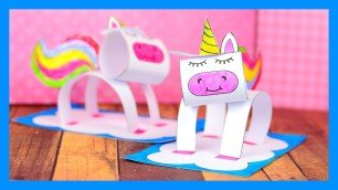 3D Paper Crafts For Kids 3d Unicorn Craft Fun Paper Craft Idea For Kids Youtube
