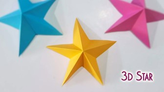3D Paper Crafts For Kids Christmas Crafts Simple 3d Paper Stars Youtube