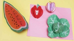 3D Paper Crafts For Kids Diy 3d Fruits With Paper Diy Kids Crafts Paper Fruits Making