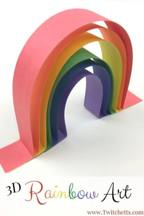 3D Paper Crafts For Kids How To Make Simple 3d Rainbow Art That Is Amazing Craft Art