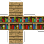 Amazing Paper Craft Minecraft Blocks Bookshelf
