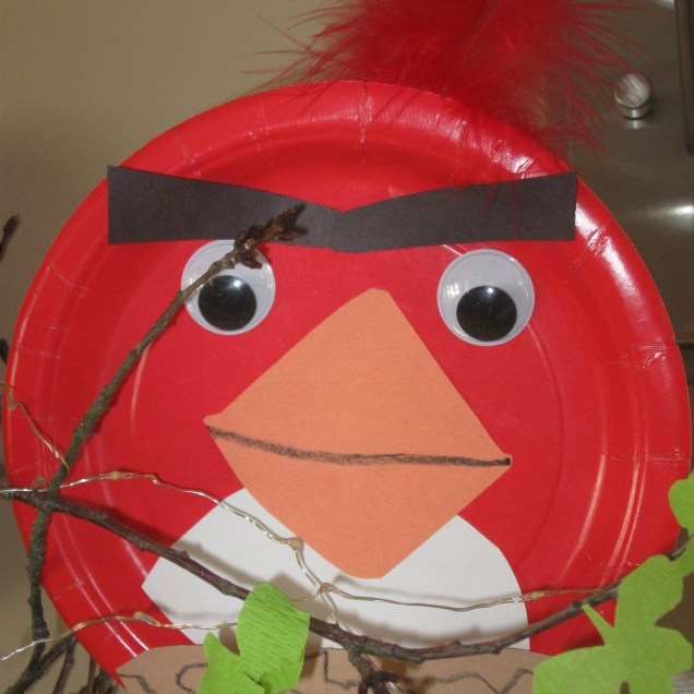Angry Bird Paper Plate Craft Angry Bird Craft Made Out Of A Paper Plate Construction Paper