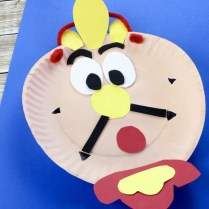 Angry Bird Paper Plate Craft Beauty And The Beast Cogsworth Clock Craft The Inspiration Edit