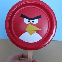 Angry Bird Paper Plate Craft Cindy Derosier My Creative Life Angry Bird Paddles