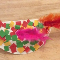 Angry Bird Paper Plate Craft How To Make A Paper Plate Bird Youtube