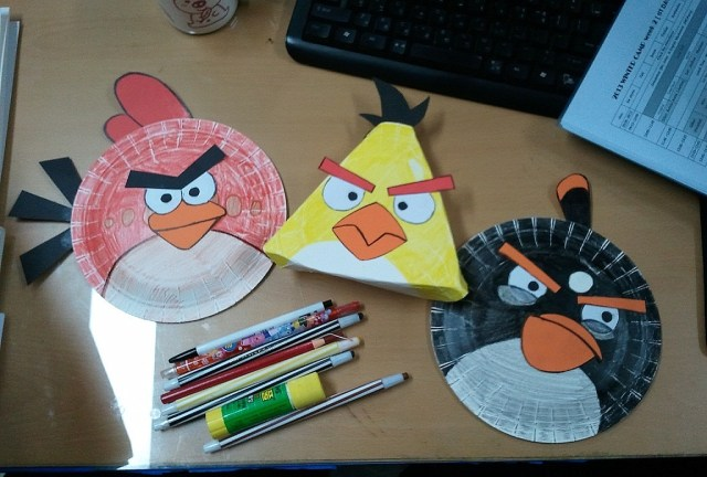 Angry Bird Paper Plate Craft Mango Chutney Crafty Project Paper Plate Angry Birds
