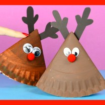 Angry Bird Paper Plate Craft Rocking Paper Plate Reindeer Easy Peasy And Fun
