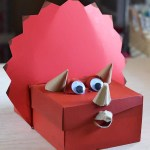 Awesome Valentine Construction Paper Crafts Awesome Dinosaur Valentine Box Shoebox Craft Adventures Of Mel