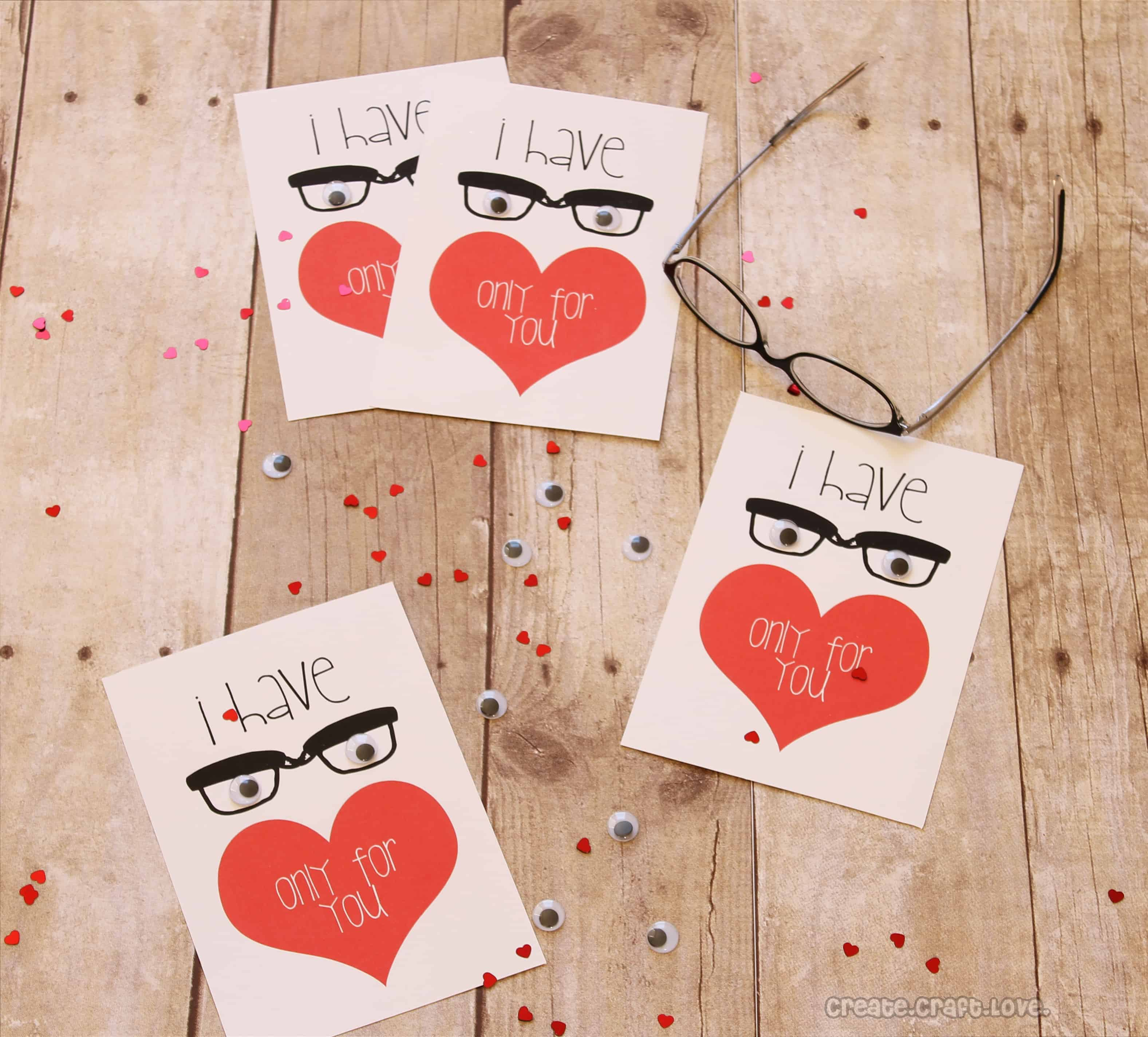 Awesome valentine construction paper crafts Eyes Only For You Valentine Printable