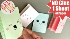 Cool Crafts To Make With Paper Easy Mini Notebook From One Sheet Of Paper No Glue Mini Paper