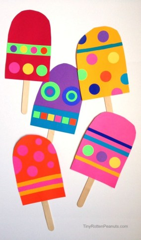 Cool Crafts To Make With Paper Giant Paper Popsicle Craft Adult Crafts Pinterest Crafts For
