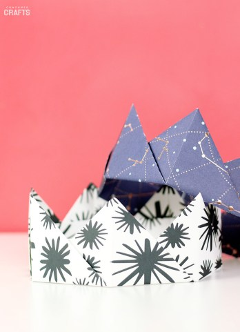 Cool Crafts To Make With Paper Origami Crown Tutorial Step Step Consumer Crafts