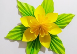 Craft Flower Paper Origami Easy Paper Flower L Very Easy To Make L Paper Craft Ideas L