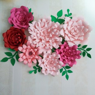 Craft Paper Flowers Roses 2019 Craft Supplies Artificial Flowers Paper Flower Full Kits Giant