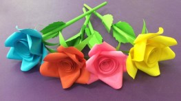 Craft Paper Flowers Roses How To Make Rose Flower With Paper Making Paper Flowers Step