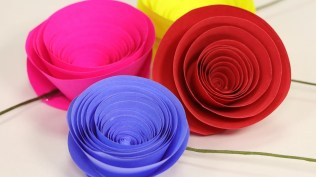 Craft Paper Flowers Roses Rolled Paper Rose Flower Easy Paper Flower Craft Setp Step