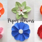Crafts With Paper For Adults 6 Easy Paper Flowers Craft Ideas Diy Flowers Youtube
