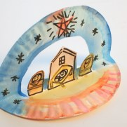 Crafts With Paper Plates For Preschoolers Easy Pop Up Paper Plate Nativity Pink Stripey Socks
