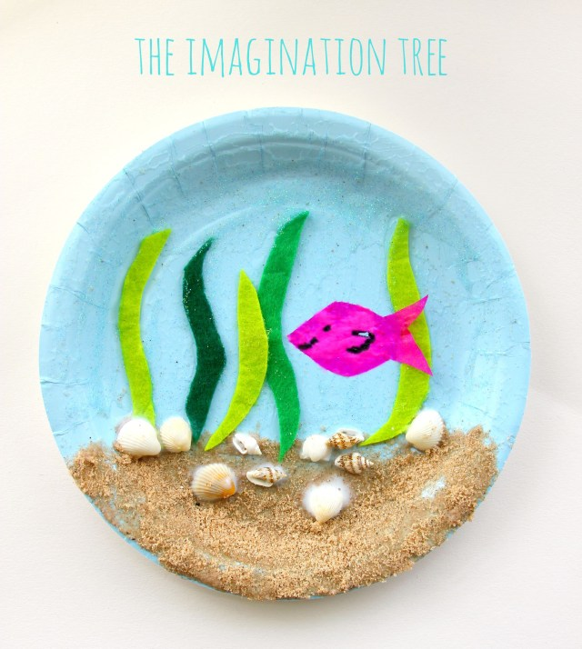 Crafts With Paper Plates For Preschoolers Under The Sea Paper Plate Craft The Imagination Tree