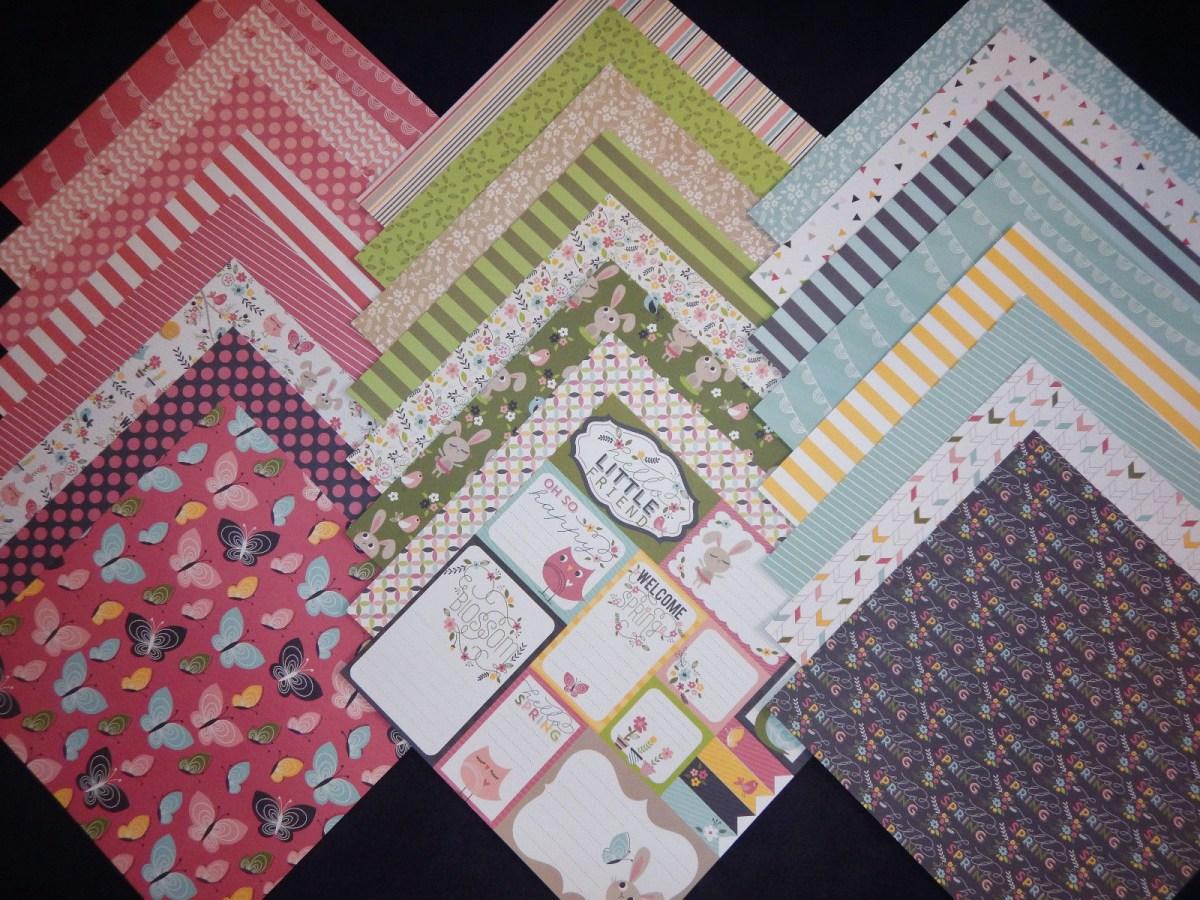 Crafts With Scrapbook Paper Buy 12x12 Scrapbook Paper Cardstock Hello Spring Easter Bunnies