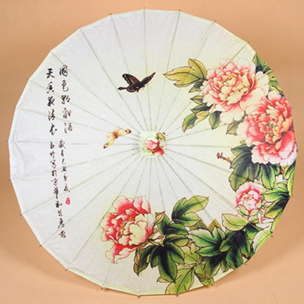 Create paper umbrella craft for party glass decor 2019 Classical Oil Paper Umbrella Bamboo Parasol Stage Performance