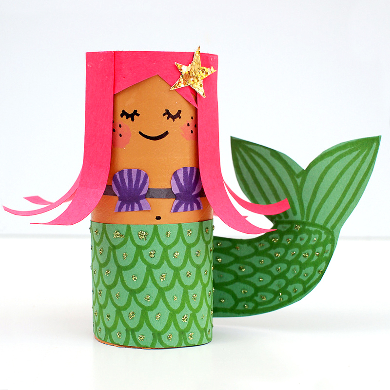 Creative crafts with toilet paper roll Mollymoocrafts Toilet Roll Crafts Hula Girl And Mermaid