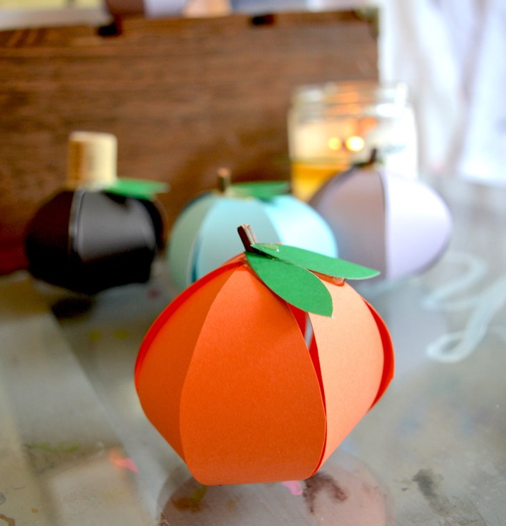 Creative ideas for pumpkin paper crafts design