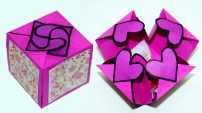 Diy Crafts With Paper Diy Paper Crafts Idea Gift Box Sealed With Hearts A Smart Way To