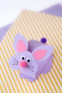 Easy Construction Paper Crafts Paper Bobble Head Bunny Craft For Kids