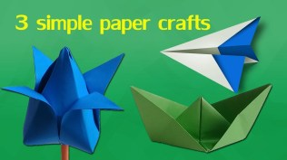 Easy Paper Craft Ideas For Kids 3 Simple Paper Crafts For Kids Easy Paper Craft For Kids Step