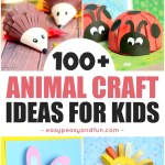 Easy Paper Craft Ideas For Kids Animal Crafts For Kids Easy Peasy And Fun