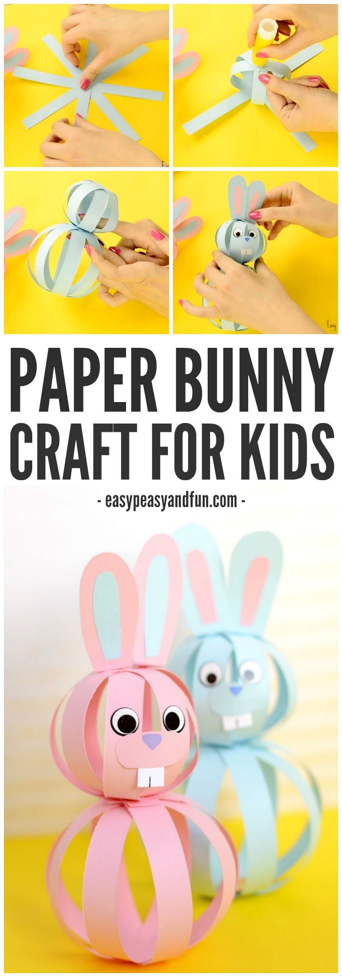 Easy Paper Craft Ideas For Kids Easy Paper Bunny Craft Easter Idea For Kids Diy And Craft Ideas