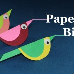 Easy Paper Craft Ideas For Kids Paper Crafts For Kids How To Make Paper Bird Very Easy Youtube