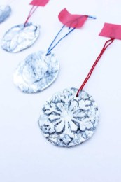 Foil Paper Crafts Homemade Christmas Ornaments 5 Minute Embossed Ornaments Babble