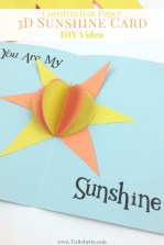 Fun Crafts With Construction Paper Construction Paper 3d Sunshine Card Video Construction Paper