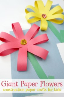 Fun Crafts With Construction Paper Giant Paper Flowers Construction Paper Crafts For Kids Mother