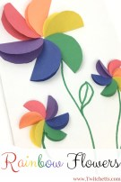 Fun Crafts With Construction Paper How To Make Easy Rainbow Paper Flowers For Kids Rainbow Crafts And
