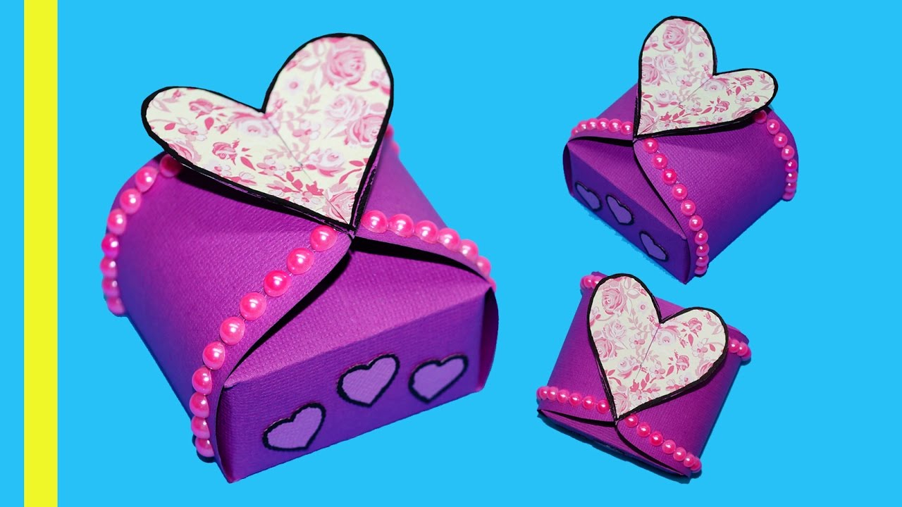 Handmade Paper Craft Gifts You can Make Right Now Diy Paper Crafts Idea Gift Box Sealed With Hearts Gift Heart Box