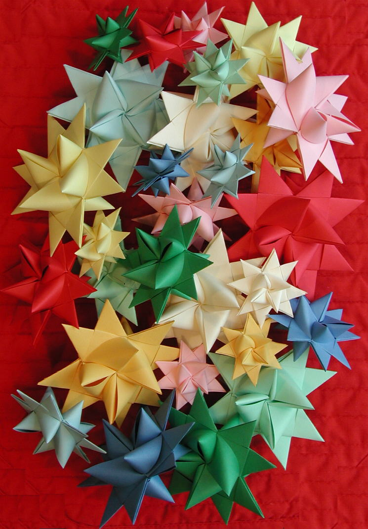 Home crafts you can make with paper 3 D Stars Moravian Pensylvanian German