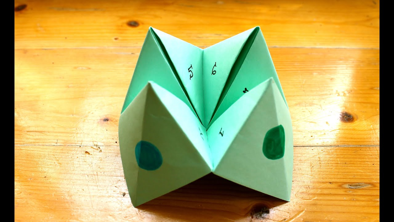 Home crafts you can make with paper How To Make A Paper Fortune Teller Or Chatterbox Youtube