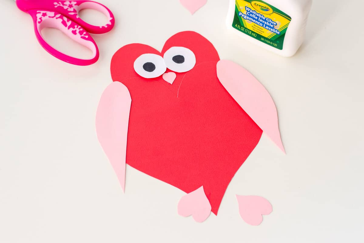 Home crafts you can make with paper Owl Heart Shape Paper Craft Diy Valentines Day Cards