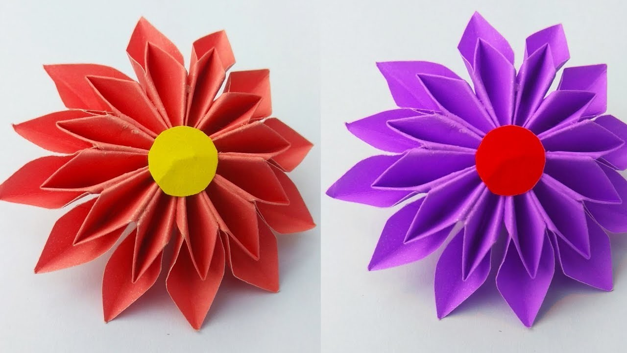 How to Make a Paper Crafts for Gifts How To Make Paper Flower Diy Easy Paper Crafts And Origami Ideas