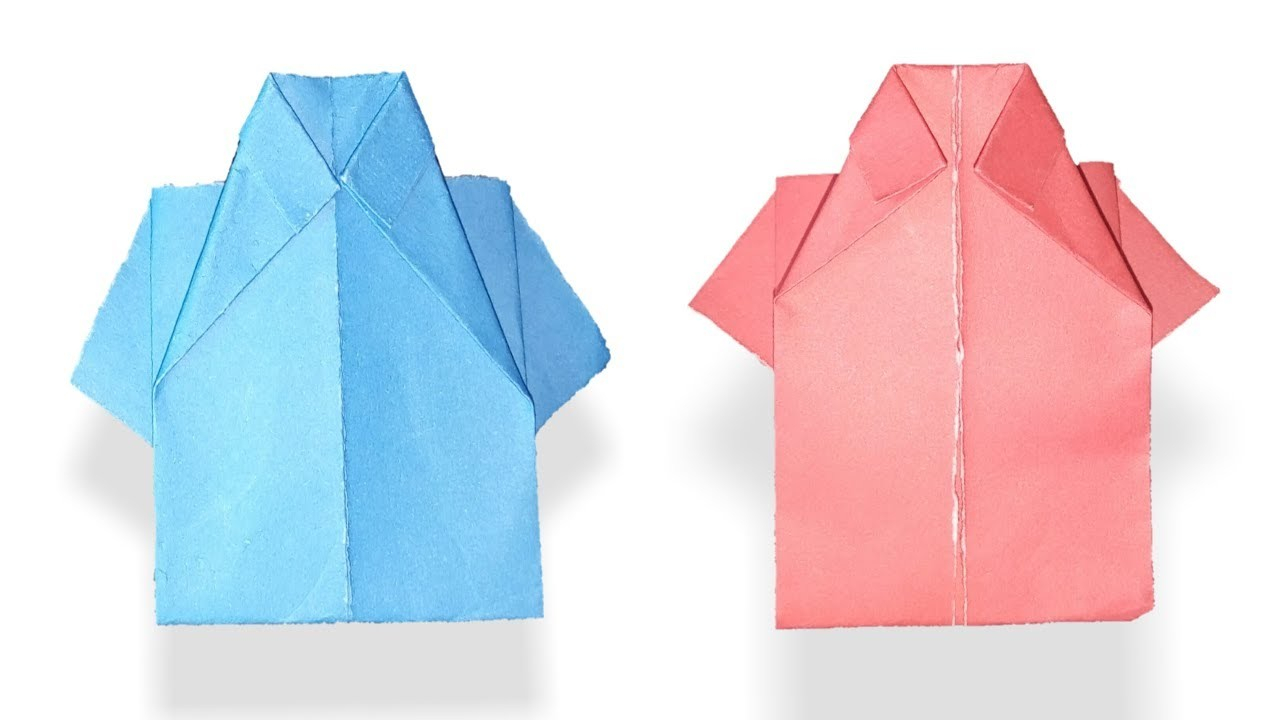How to Make a Paper Crafts for Gifts How To Make Paper Shirt Diy Origami Paper Crafts Art Paper Craft